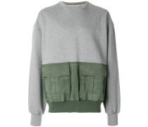 Sweatshirt mit Klappentaschen