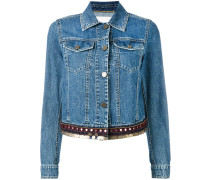 Jeansjacke mit verziertem Saum