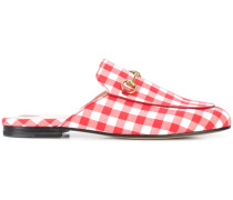 gingham Princetown mules