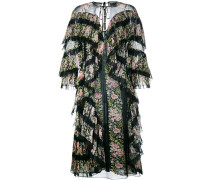 Gestuftes Kleid mit Blumen-Print