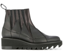 jagged gore ankle boots