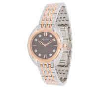 diamond two-tone bracelet watch
