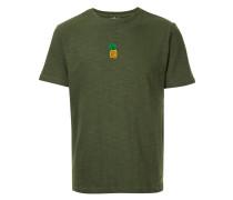 T-Shirt mit aufgestickter Ananas