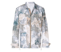 printed shirt jacket