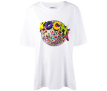 T-Shirt mit Globus-Print