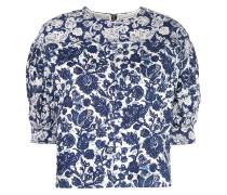Oversized-Bluse mit Blumen-Print