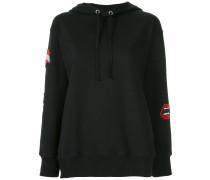 patch appliqué hoodie