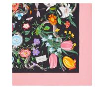 Seidenschal mit 'Flora Snake'-Print