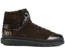 High-Top-Sneakers mit Lammfell
