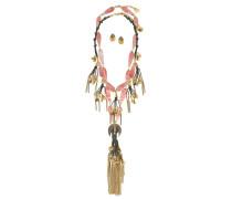 Set aus zwei Halsketten und Ohrringen