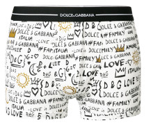 love family logo printed boxers