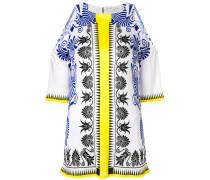 printed cold shoulder blouse