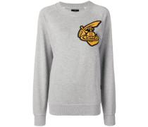 oversized patch sweatshirt