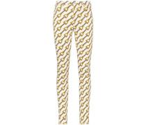 Skinny-Jeans mit Ketten-Print