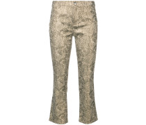 Drew cropped flare trousers