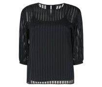 striped sheer shift blouse