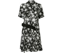 two tone printed dress