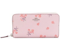 floral zipped wallet