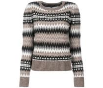 fair isle puff sleeve sweater