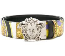 Baroque print Medusa reversible belt
