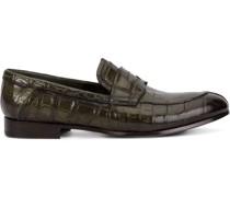 Penny-Loafer aus Krokodilleder
