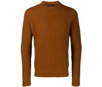 Waffelstrick-Pullover