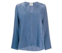 long-sleeve flared blouse