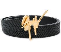 logo embellisged belt