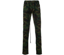Jeans mit Camouflage-Print