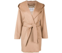 wrap-around hooded coat
