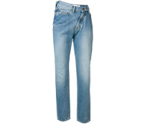 Jeans mit asymmetrischem Bund
