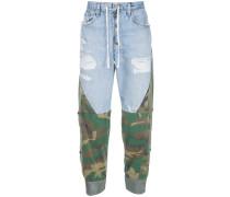 Jeans mit Camouflage-Print