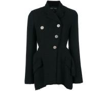 Asymmetrical Cotton Tweed Blazer