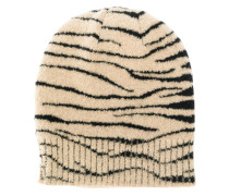 knitted patterned beanie