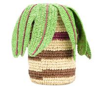 woven palm basket tote