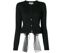 voile bow cardigan