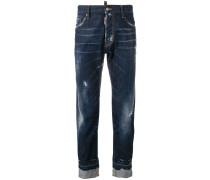 Distressed-Jeans mit umgeschlagenem Saum