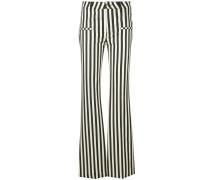 Ausgestellte Hose mit Streifen