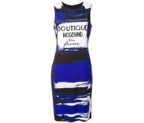 Kurzes Kleid mit Flakon-Print