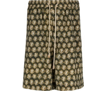 Shorts mit Boho-Print