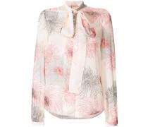 Bedruckte Bluse mit Schleifenkragen