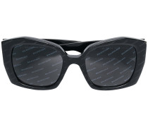 diagonal logo print sunglasses