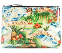 Kosmetiktasche mit Hawaii-Print