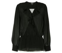 A.P.C. Edna sheer ruffle blouse