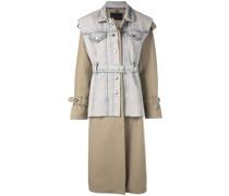 Jeans-Trenchcoat im Layering-Look