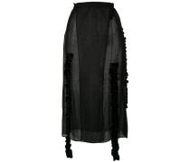 midi sheer skirt
