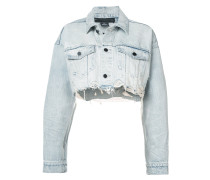 cropped loose denim jacket