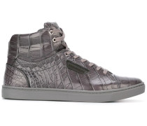 High-Top-Sneakers aus Krokodilleder
