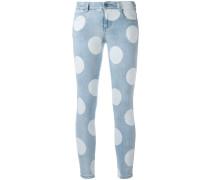 Gepunktete Skinny-Jeans
