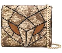 panelled snake mini bag